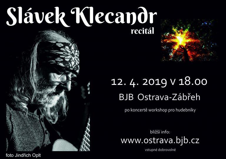 Recitál Slávka Klecandra s workshopem_pátek 12.4.2019