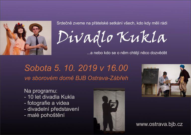 Divadlo Kukla slaví 10 let_ 5.10. 2019 v 16:00 hod.