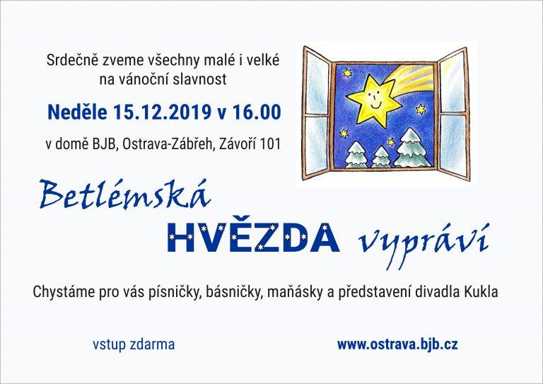 Betlémská hvězda vypráví 15.12.2019 v 16:00 hod.